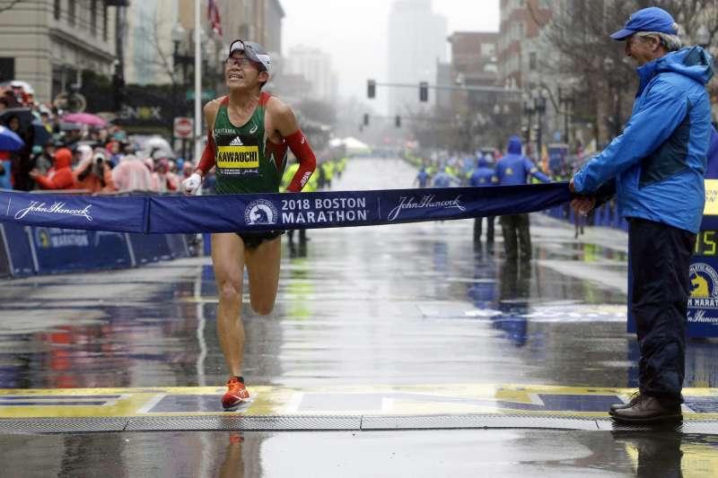 贏得2018年波士頓馬拉松冠軍的日本公務員川內優輝(AP)