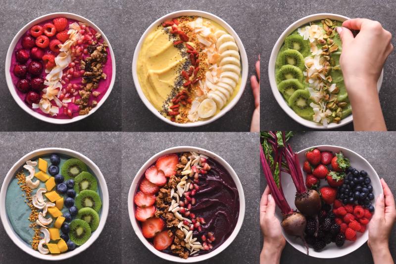 看起來讓人驚艷的Smoothie Bowl,外面賣得貴鬆鬆,其實自己做根本超省!趕快來看如何用台灣當季水果做這道營養健康的甜品吧!(圖/取自youtube)