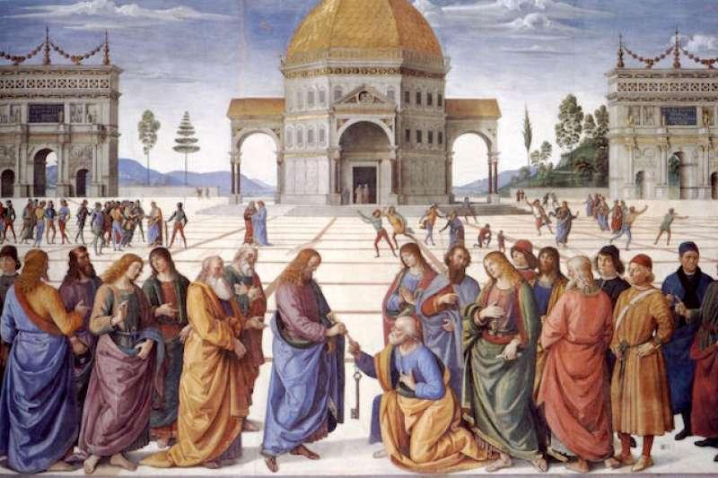 佩魯吉諾畫家在西斯廷教堂裡的畫。(wikipedia)