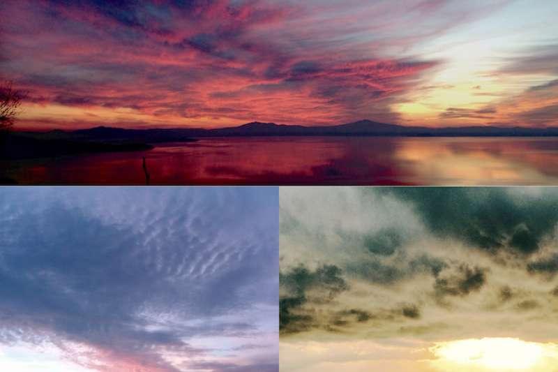 翁布里亞大區特拉希梅濃湖 的日出和黃昏。(曾廣儀攝)