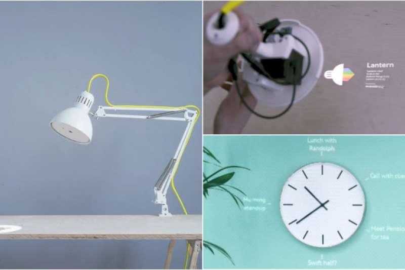 妥善運用巧思,廉價檯燈也能搖身一變充滿科幻感。(圖/翻攝自 Experiments with Google)