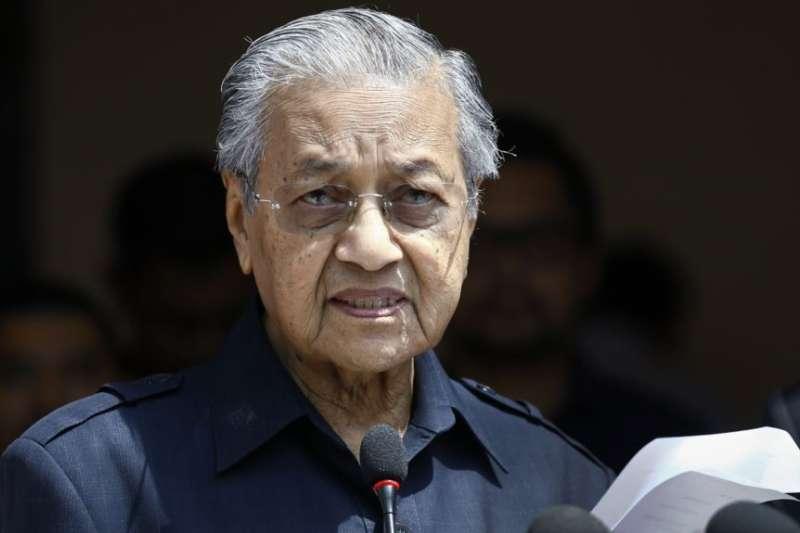 馬來西亞總理馬哈地。(美國之音)