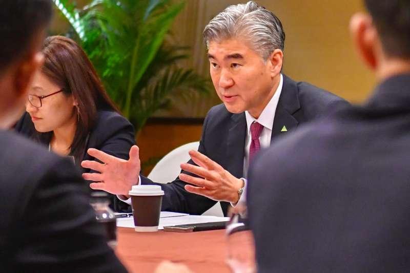2018年6月11日,美國駐菲律賓大使金成參與對北韓的工作談判。(AP)