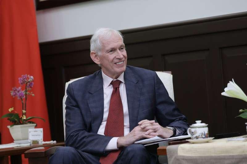 20180613-總統蔡英文接見「美國在台協會」(AIT)主席莫健(James Moriarty)。(取自flickr@總統府)