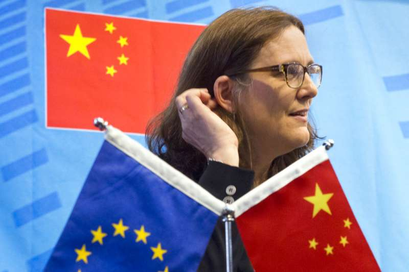 歐盟貿易委員瑪姆斯托姆(Cecilia Malmstrom)。(AP)