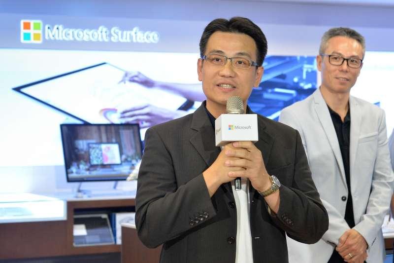 全台首家Microsoft Surface形象旗艦店。(圖/台灣微軟提供)