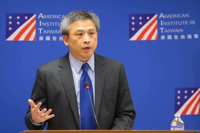 20180706-AIT美國在台協會處長梅健華6日出席離任記者會。(顏麟宇攝)