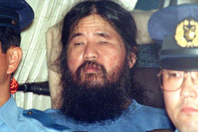 麻原彰晃6日傳出已遭執行死刑完畢。(資料照,美聯社)