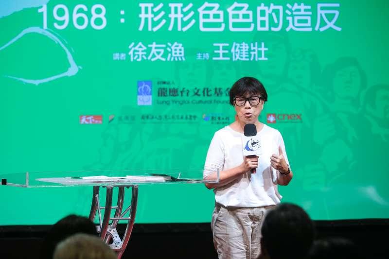 20180707-前文化部長龍應台7日出席「思沙龍 1968:形形色色的造反」講座。(顏麟宇攝)