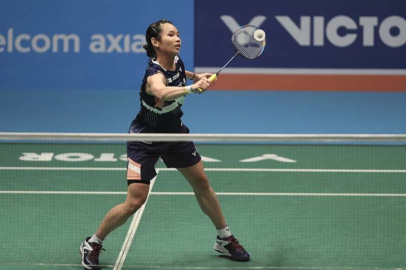 印度羽球公開賽女子單打冠軍戰,戴資穎雖然丟掉第一局處於落後,但隨即回穩,最後連趕2局,擊敗中國好手陳雨菲成功奪冠。(美聯社)