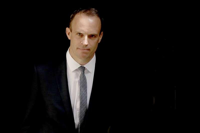 英國新任脫歐事務大臣拉布(Dominic Raab)(AP)