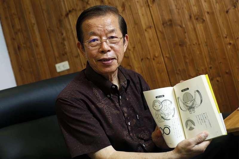 用寫書的方式,謝長廷拉近他和駐地日本的距離。(郭晉瑋攝)