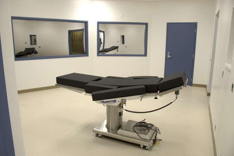 執行毒劑注射死刑的死刑室。(美聯社)