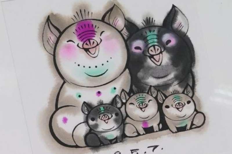 二胎化準備鬆綁?中國豬年郵票現「三隻小豬」引發網友瘋狂討論。(BBC中文網)
