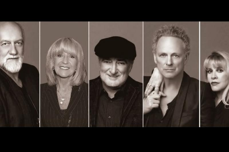 (左至右)英國樂團佛利伍麥克(Fleetwood Mac)團員米克佛利伍、克莉絲汀麥克維、約翰麥克維、林賽白金漢、史蒂薇妮克斯(取自官網)