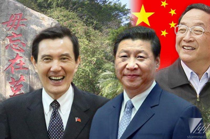 總統馬英九(左起)拒絕了中國國家主席習近平在金門會面的提議,中方再建議由全國政協主席俞正聲前往金門會晤台灣代表,雙方正進一步磋商中。(余志偉攝、中評社/影像合成:風傳媒 )
