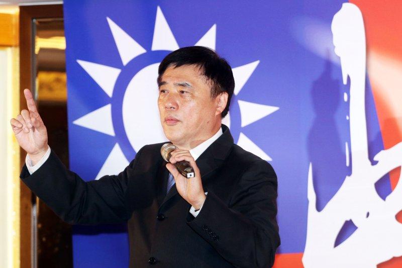 20170215-國民黨副主席郝龍斌上午出席競選黨主席中興後援會成立大會,會中也登臺致詞爭取支持。(蘇仲泓攝)