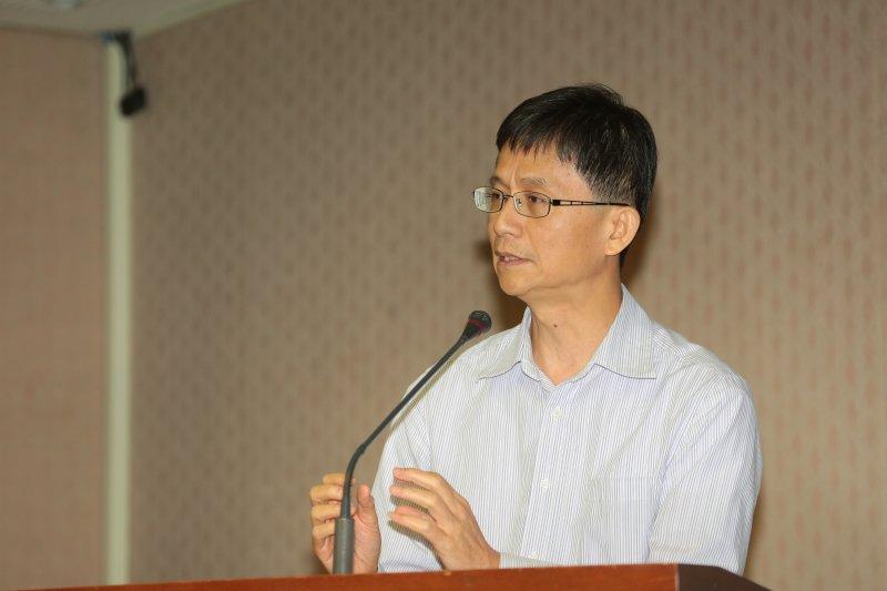 國土計畫法專家會議,圖為環境法律人協會理事長詹順貴。(顏麟宇攝)