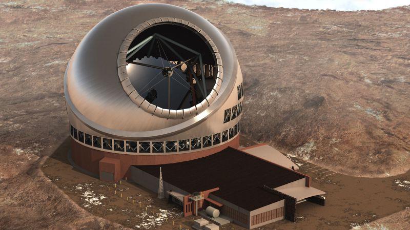 夏威夷大學預定建造的超大望遠鏡引發爭議。(美聯社)