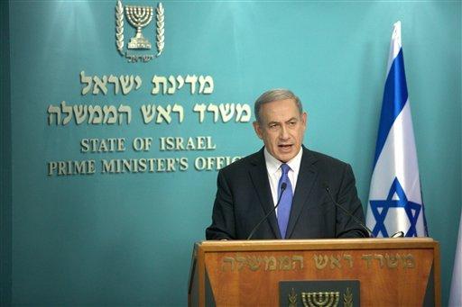 以色列總理納坦雅胡表示,伊朗限核協議將世界推入更危險的境地。(美聯社)