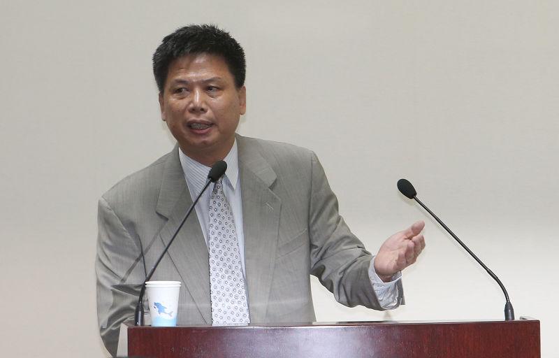 徐世榮教授到國民黨中常會演講。(吳逸驊攝)