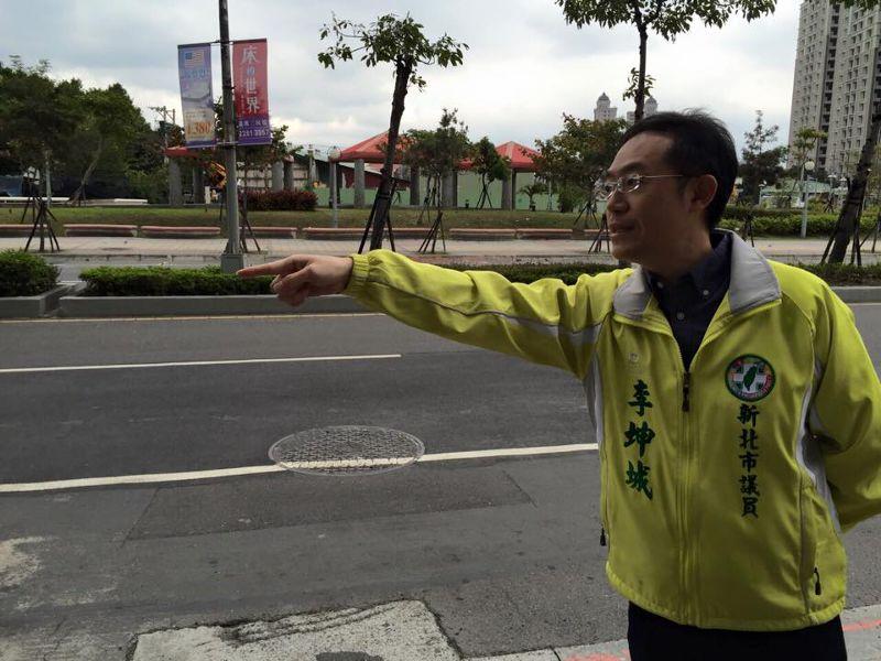 新北市議員李坤城陪同陳姓女網友至新北市刑大說明。(資料畫面,取自李坤城臉書)