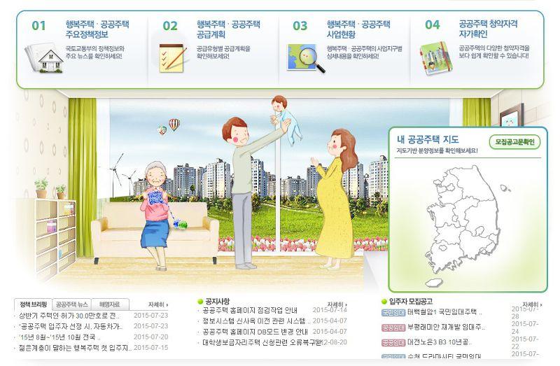 20150728南韓推動公共住宅政策,從中央到地方全力配合,設定長期要蓋200萬戶的公宅目標。(取自portal.newplus.go.kr)