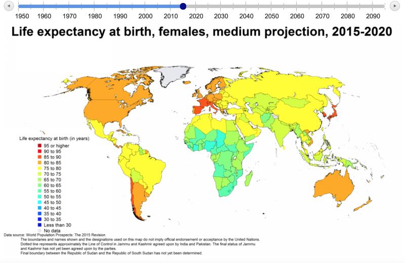 聯合國對當前全球人口老化情況調查。(聯合國官網)