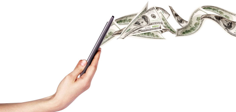 不需要紙鈔,以數位付款方式進行服務(圖/ shutterstock)