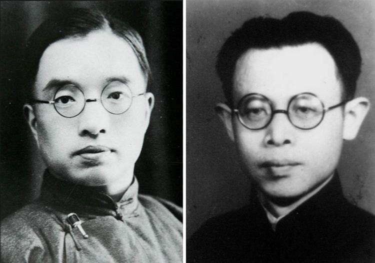 北大雙清,朱自清(左)浦江清(右)。(百度百科)