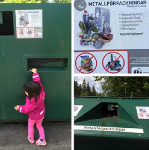 垃圾投遞口也要符合孩子構得著的高度。(作者提供)