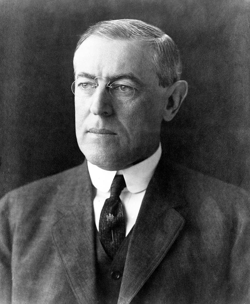 美國前總統威爾遜(取自維基百科)