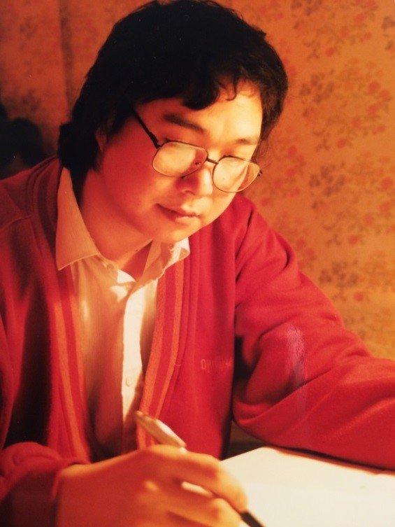 1980年代的青年詩人阿海。(貝嶺提供)