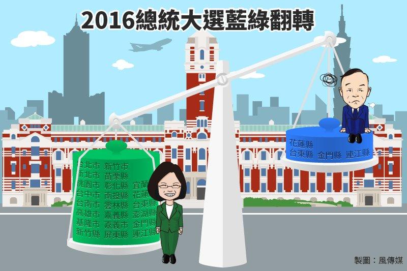 20160116-SMG0034-Ts01-2016總統大選結果藍綠天秤,蔡英文,朱立倫-01