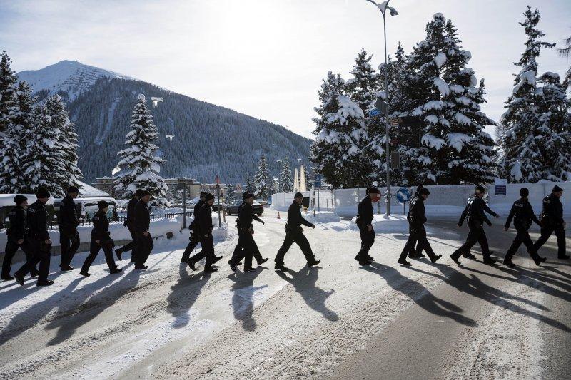 瑞士達佛斯為世界經濟論壇會場,維安工作滴水不露。(美聯社)