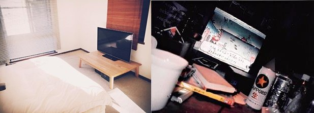 佐佐木典士把原本堆滿雜書、啤酒罐的書桌丟掉,整體空間變得乾淨俐落。(圖/三采文化集團提供)