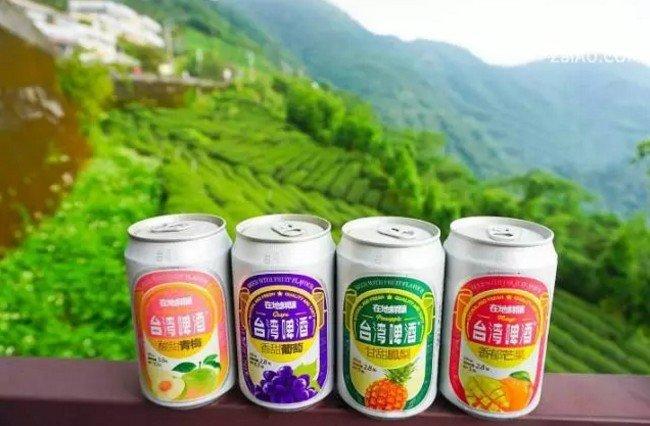 在台灣,有一種飲料,叫果味台啤。(取自微信號直通台灣)