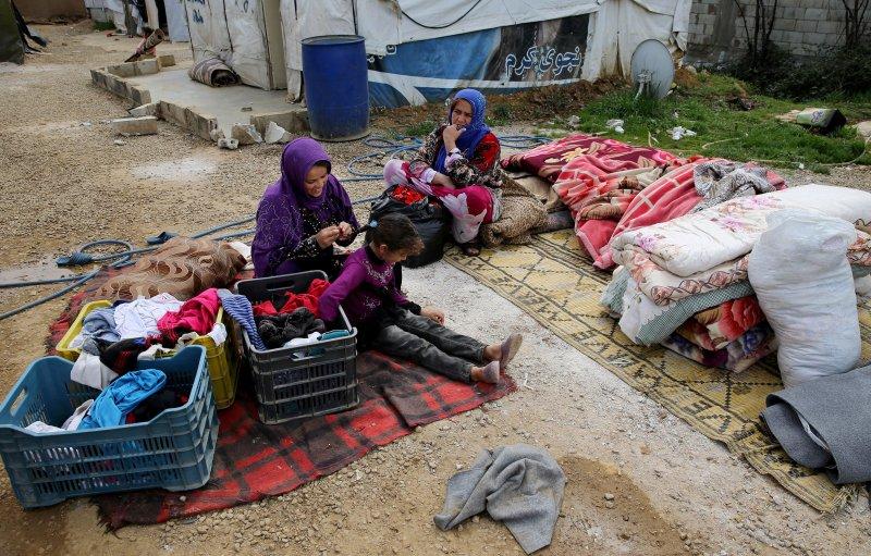 敘利亞難民在黎巴嫩的生活相當艱苦。(美聯社)