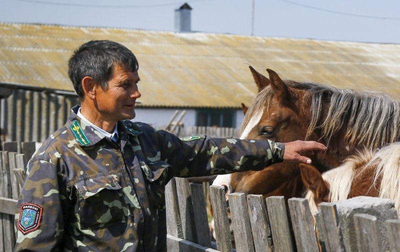 白俄羅斯國家實驗農場主管基爾彼申科。(美聯社)