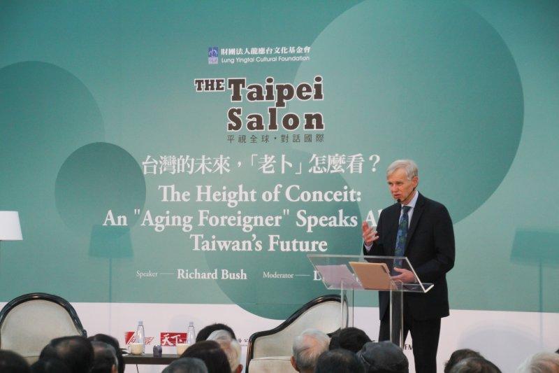 龍應台主持 台灣未來 老卜怎麼看  卜睿哲演講。(王德為攝)