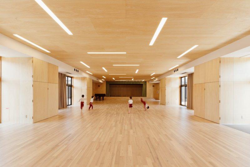 寬闊的體育館架構不變,僅有內部經過翻修。