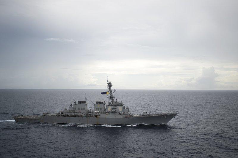 美國海軍迪凱特號飛彈驅逐艦進入南海海域巡弋,再度引發中美關係緊張。(美國海軍官網)