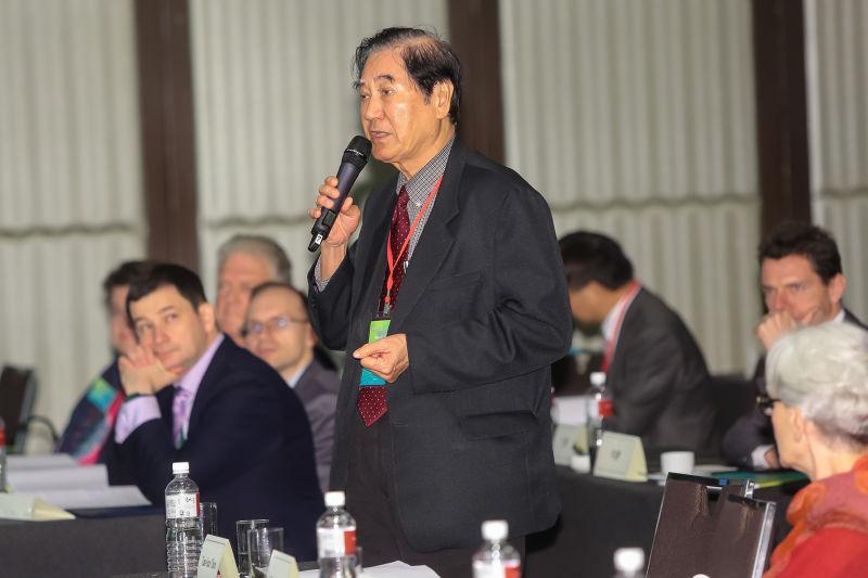 20161214-遠景基金會董事長陳唐山14日出席「臺美日暨亞太區域夥伴安全對話研討會」。(顏麟宇攝)