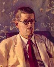 1924年,喬伊斯在巴黎(Wikipedia/PD-US)
