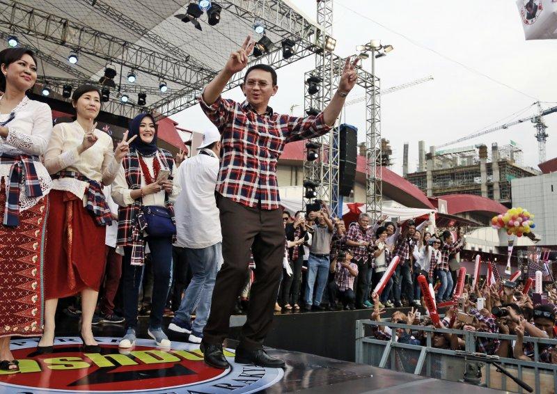 雅加達華裔首長鍾萬學尋求連任,牽動印尼複雜的族群關係。(美聯社)