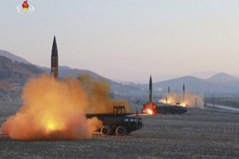 北韓在2017年3月6日一口氣發射4枚彈道飛彈(AP)