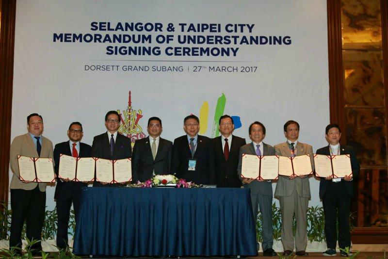 台北市長柯文哲出訪馬來西亞。(台北市政府提供)