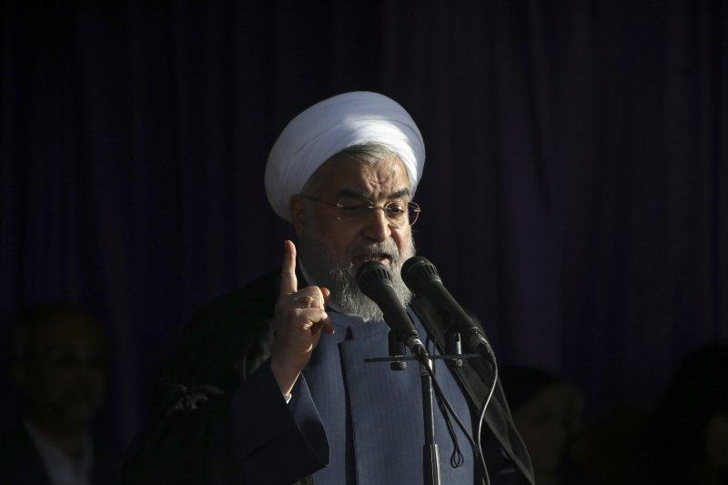 伊朗總統候選人魯哈尼。(美聯社)