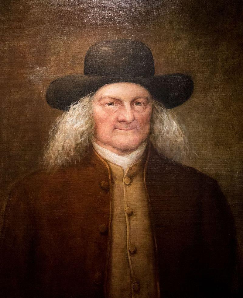 羅德島商人、美國布朗大學共同創辦人摩西布朗( Moses Brown)的畫像。(wikipedia/public domain)