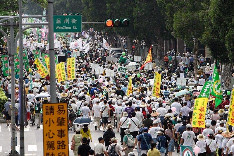2009年517「嗆馬保台大遊行」。(MiNe (sfmine79) /維基百科)